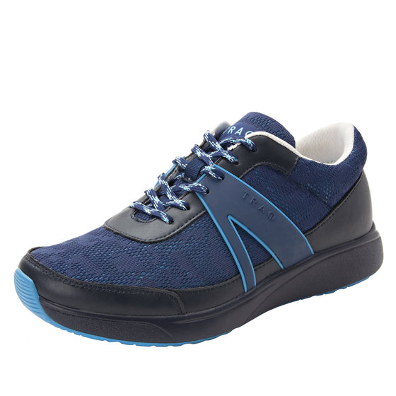 Qarma Navy Chasm smart shoes with Q-chip™ technology. QAR-5410_S1