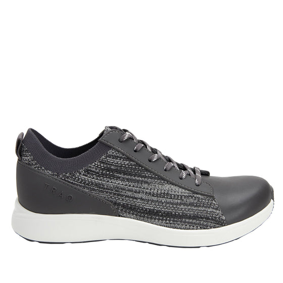 Qest Charcoal lace-up smart shoes with q-chip technology. QES-5018_S2