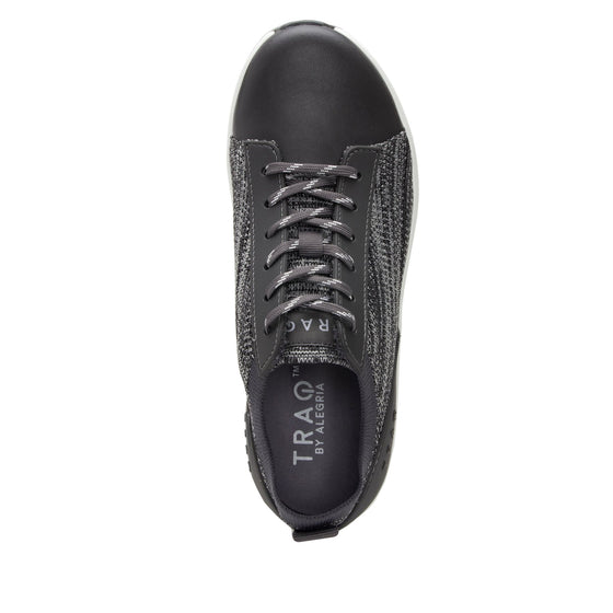 Qest Charcoal lace-up smart shoes with Q-chip™ technology. QES-5018_S4