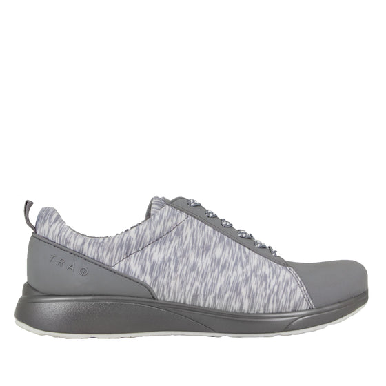 Qest Grey lace-up smart shoes with q-chip technology. QES-5061_S2
