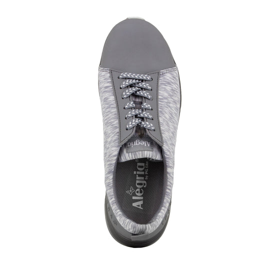 Qest Grey lace-up smart shoes with q-chip technology. QES-5061_S4