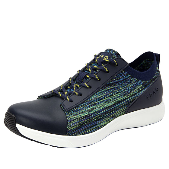 Qest Multiplex Green lace-up smart shoes with Q-chip™ technology. QES-5018_S1