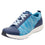 Qest Blue lace-up smart shoes with q-chip technology. QES-5493_S1