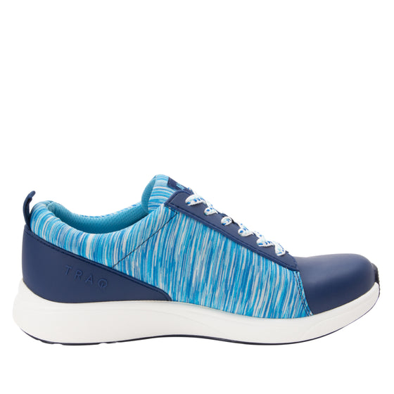 Qest Blue lace-up smart shoes with q-chip technology. QES-5493_S2