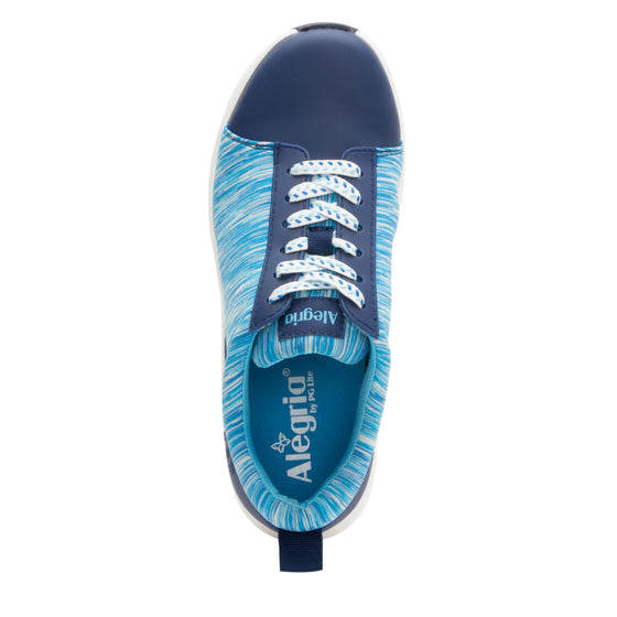Qest Blue lace-up smart shoes with q-chip technology. QES-5493_S4