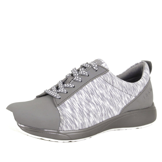 Qest Grey lace-up smart shoes with q-chip technology. QES-5061_S1