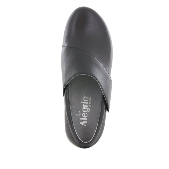 Qin Black Nappa smart slip on shoes with Q-chip™ technology. QIN-601_S4