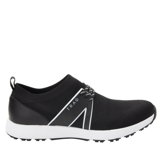 Qool Black lace-up smart shoes with Q-chip™ technology. QOO-M7002_S2