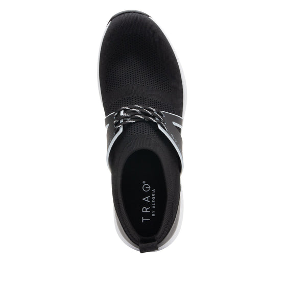 Qool Black lace-up smart shoes with Q-chip™ technology. QOO-M7002_S4