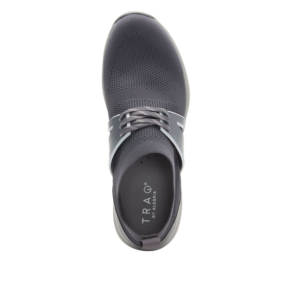 Qool Charcoal lace-up smart shoes with Q-chip™ technology. QOO-M7018_S4