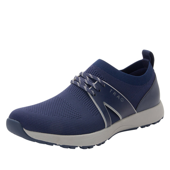 Qool Navy lace-up smart shoes with Q-chip™ technology. QOO-M7410_S1