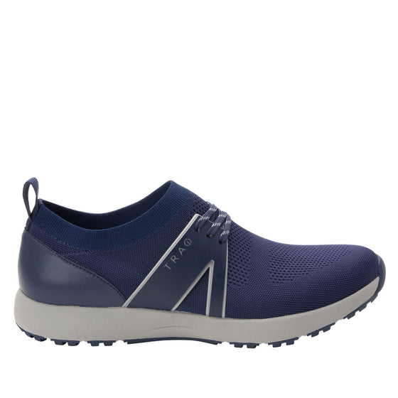 Qool Navy lace-up smart shoes with Q-chip™ technology. QOO-M7410_S2