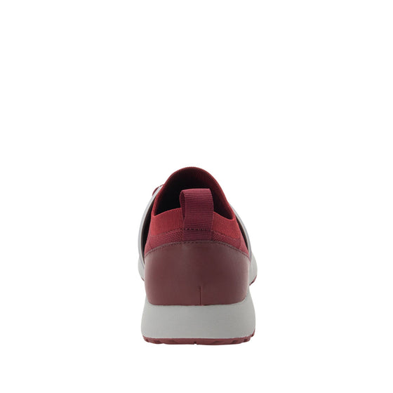 Qool Maroon lace-up smart shoes with Q-chip™ technology. QOO-M7602_S3