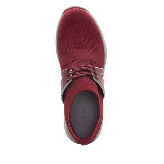Qool Maroon lace-up smart shoes with Q-chip™ technology. QOO-M7602_S4