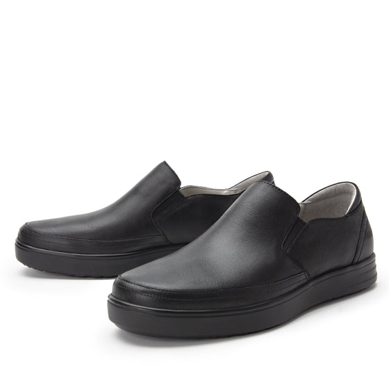 Quentin Black Out Mens smart slip-on leather shoe with Q-chip™ technology- QUE-M7001_S2