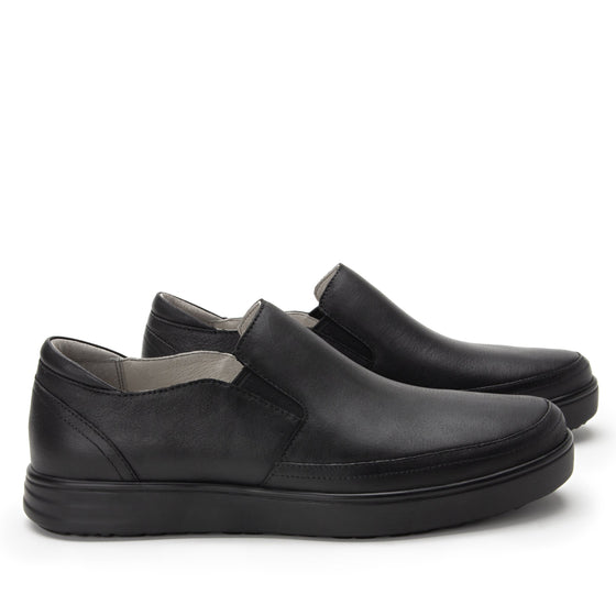 Quentin Black Out Mens smart slip-on leather shoe with Q-chip™ technology- QUE-M7001_S3
