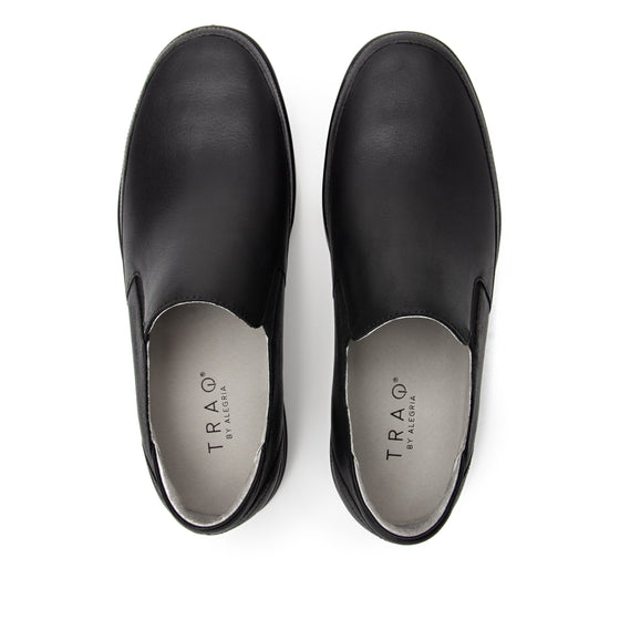 Quentin Black Out Mens smart slip-on leather shoe with Q-chip™ technology- QUE-M7001_S5