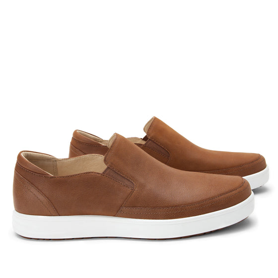 Quentin Cognac Mens smart slip-on leather shoe with Q-chip™ technology- QUE-M7202_S3