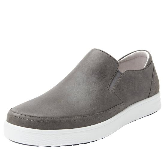 Quentin Grey Mens smart slip-on leather shoe with Q-chip™ technology- QUE-M7477_S1