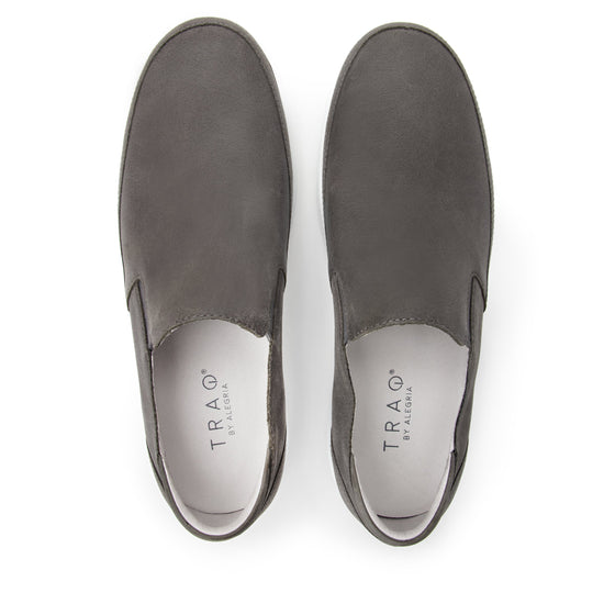 Quentin Grey Mens smart slip-on leather shoe with Q-chip™ technology- QUE-M7477_S5