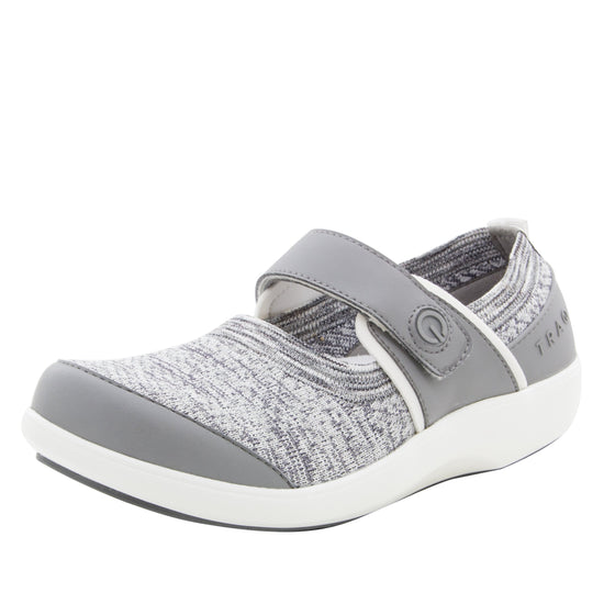 Qutie Soft Grey smart slip on shoes with Q-Chip technology. QUT-5058_S1