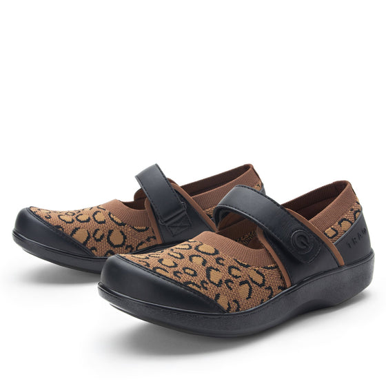 Qutie Leopard mary jane shoes with Q-chip™ technology. QUT-5210_S2