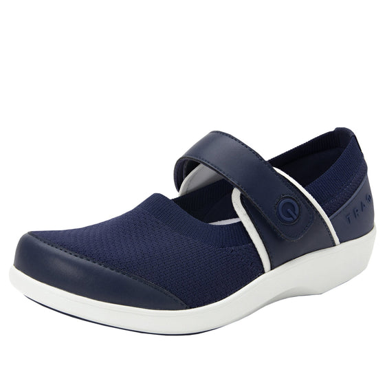 Qutie Navy mary jane shoes with Q-chip™ technology. QUT-5410_S1