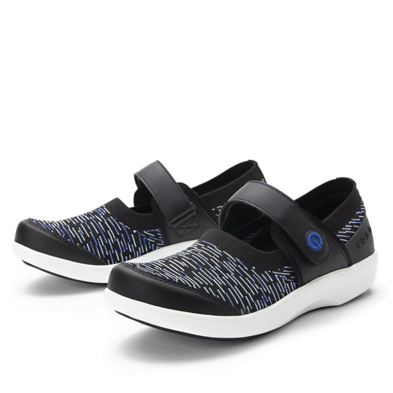 Qwik Blue Dash slip on smart shoes with Q-chip™ technology. QWI-5494_S1