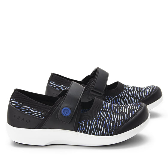 Qwik Blue Dash slip on smart shoes with Q-chip™ technology. QWI-5494_S2