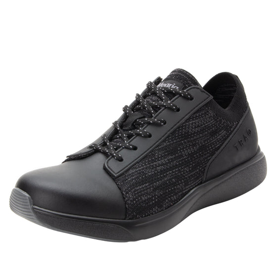 Qest Black lace-up smart shoes with Q-chip™ technology. QES-5001_S1