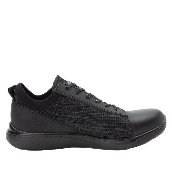 Qest Black lace-up smart shoes with Q-chip™ technology. QES-5001_S2