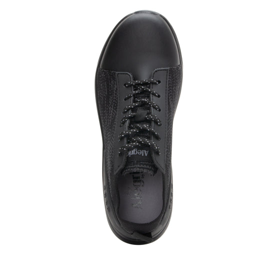Qest Black lace-up smart shoes with Q-chip™ technology. QES-5001_S4