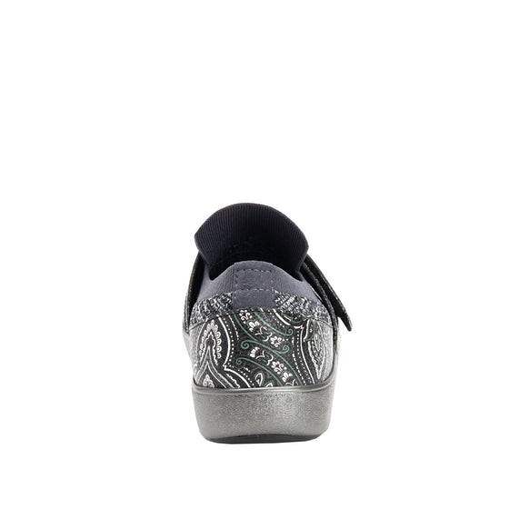 Qwik Outta Sight Black slip on smart shoes with Q-chip™ technology. QWI-5003_S3