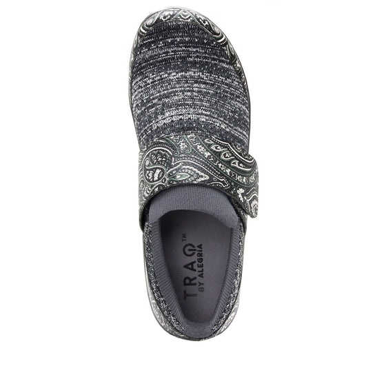 Qwik Outta Sight Black slip on smart shoes with q-chip technology. QWI-5003_S4