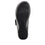 Qwik Outta Sight Black slip on smart shoes with Q-chip™ technology. QWI-5003_S5