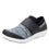 Qwik Flurry Black slip on smart shoes with q-chip technology. QWI-5004_S1
