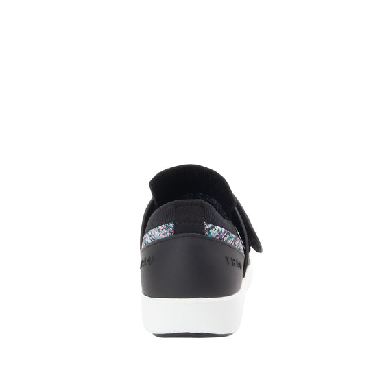 Qwik Flurry Black slip on smart shoes with Q-chip™ technology. QWI-5004_S3