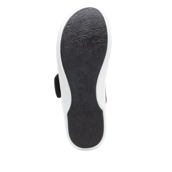 Qwik Flurry Black slip on smart shoes with Q-chip™ technology. QWI-5004_S5