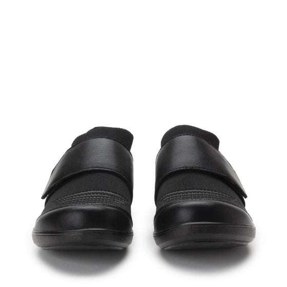 Qwik Peeps Black slip on smart shoes with Q-chip™ technology. QWI-5005_S7