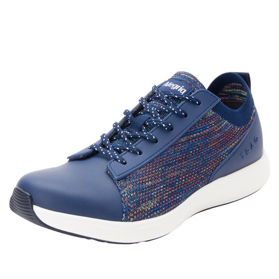 Qest Navy Multi lace-up smart shoes with Q-chip™ technology. QES-5470_S1