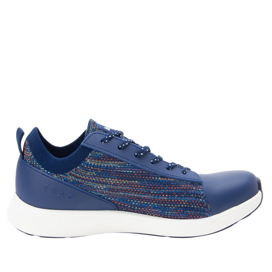 Qest Navy Multi lace-up smart shoes with Q-chip™ technology. QES-5470_S2