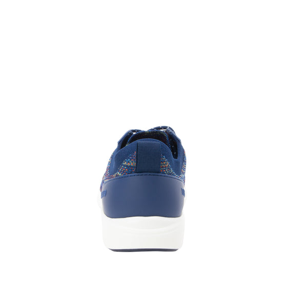 Qest Navy Multi lace-up smart shoes with q-chip technology. QES-5470_S3