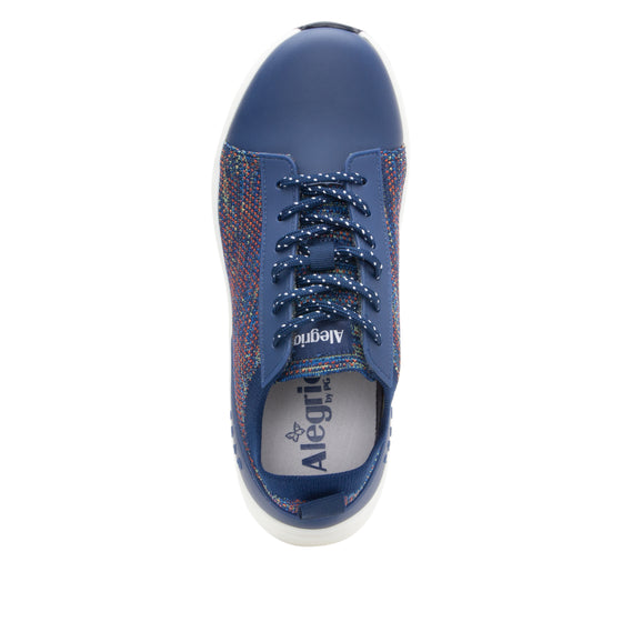 Qest Navy Multi lace-up smart shoes with q-chip technology. QES-5470_S4
