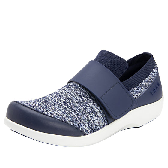 Qwik Flurry Blue slip on smart shoes with q-chip technology. QWI-5495_S1