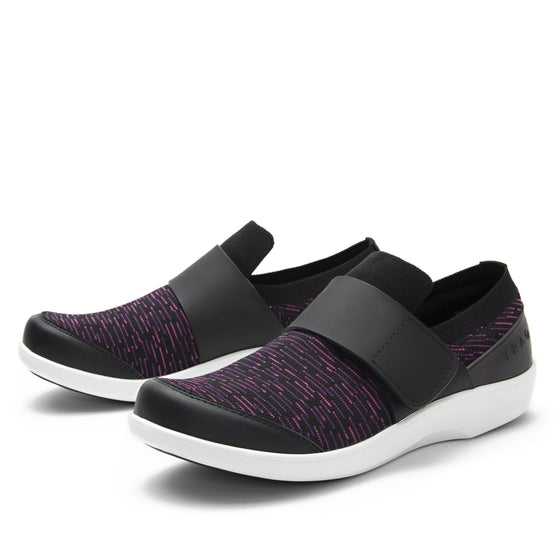 Qwik Purple Dash slip on smart shoes with Q-chip™ technology. QWI-5510_S1