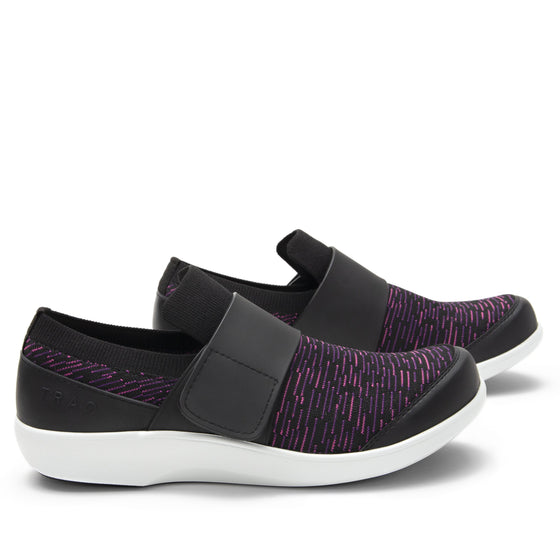 Qwik Purple Dash slip on smart shoes with Q-chip™ technology. QWI-5510_S2