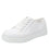 Sneaq White sneaker style smart shoes with q-chip technology. SNE-5100_S1