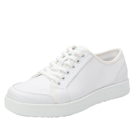 Sneaq White sneaker style smart shoes with Q-chip™ technology. SNE-5100_S1