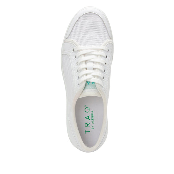 Sneaq White sneaker style smart shoes with q-chip technology. SNE-5100_S4