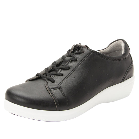 Cliq Black lace up smart shoes with Q-Chip technology. CLI-5001_S1